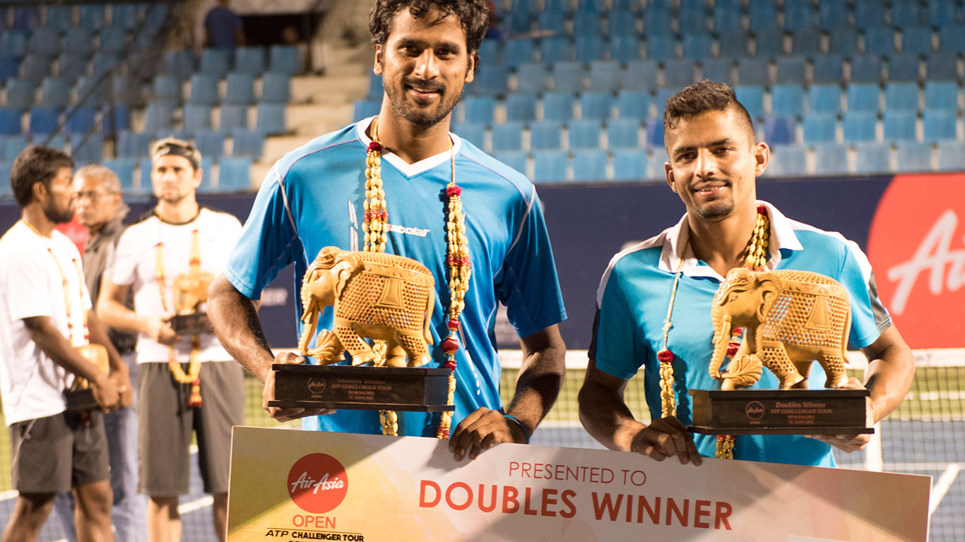 Saketh-Sanam clinch doubles crown