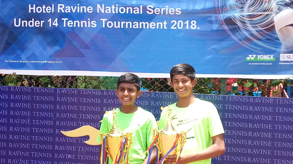 Aayush Bhat & Anmay Devaraj won the Doubles U-14