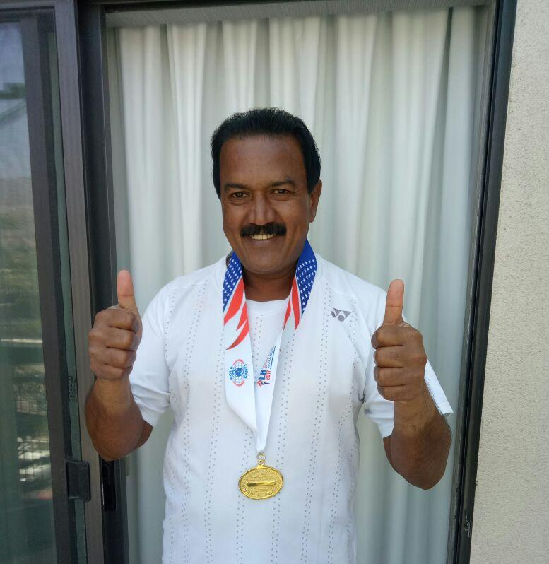 BNS Reddy IPS, Won singles Gold Medal at USA