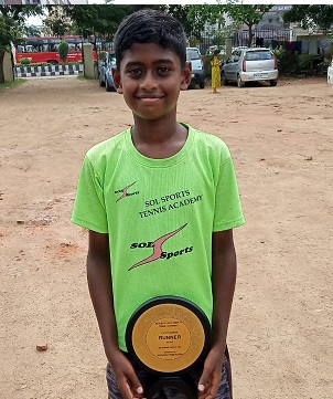 Jason Michael David of Karnataka is the Doubles winner of NS U-14