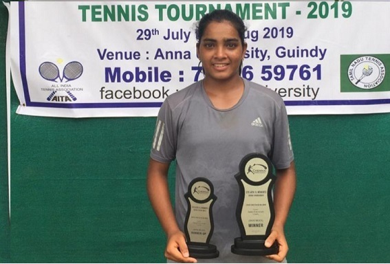 Reshma Maruri was Singles Runner up and Doubles Winner