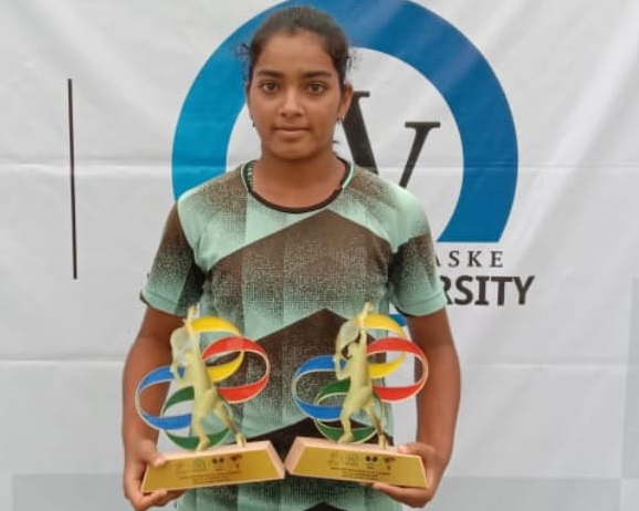 Reshma Maruri was the Runner-up in Singles U 16 N S tournament
