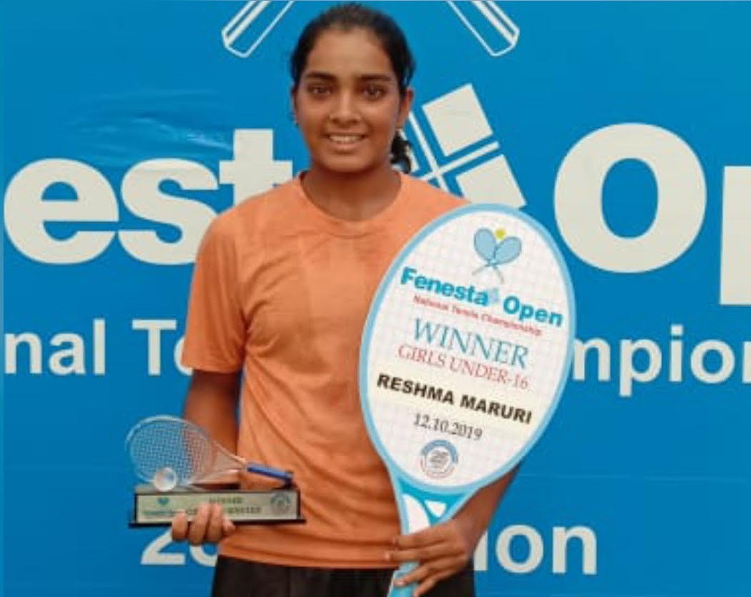 Reshma Maruri clinched the U - 16 singles title at the Fenesta Open