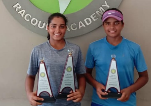 Reshma and Suhitha Maruri  Runner up in Doubles U-18