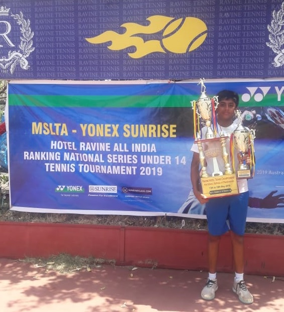Skandha Prasanna Rao of Karnataka is a finalist in both singles and doubles in AITA National series for U14