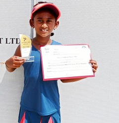Srishti Kiran won U-10 Titles in SAT Sports